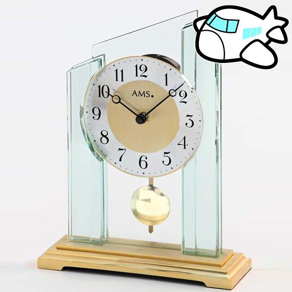 【ポイントアップ中&割引クーポン配布中】AMS 置き時計 振り子時計 置時計 ガラス 金 ドイツ製 AMS1167 納期1ヶ月程度 (YM-AMS1167)