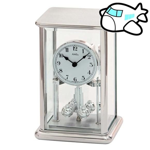 AMS 置き時計 置時計 アナログ シルバー ドイツ製 AMS1210 納期1ヶ月程度 (YM-AMS1210)