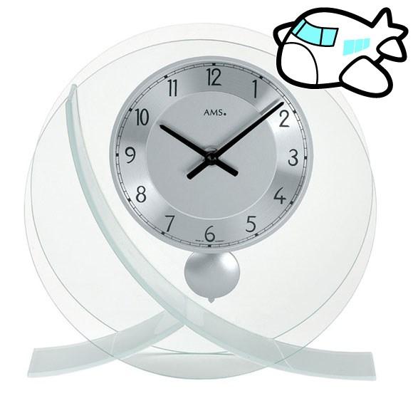 【ポイントアップ中&割引クーポン配布中】AMS 置き時計 置時計 アナログ シルバー ドイツ製 AMS161 納期1ヶ月程度 (YM-AMS161)