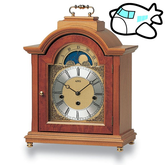 AMS 置き時計 置時計 アナログ 機械式 ドイツ製 AMS2195-9 納期1ヶ月程度 (YM-AMS2195-9)