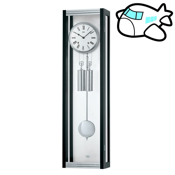 AMS 掛け時計 振り子時計 機械式振り子時計 アナログ シルバー ドイツ製 AMS2706-11 納期1ヶ月程度 (YM-AMS2706-11)