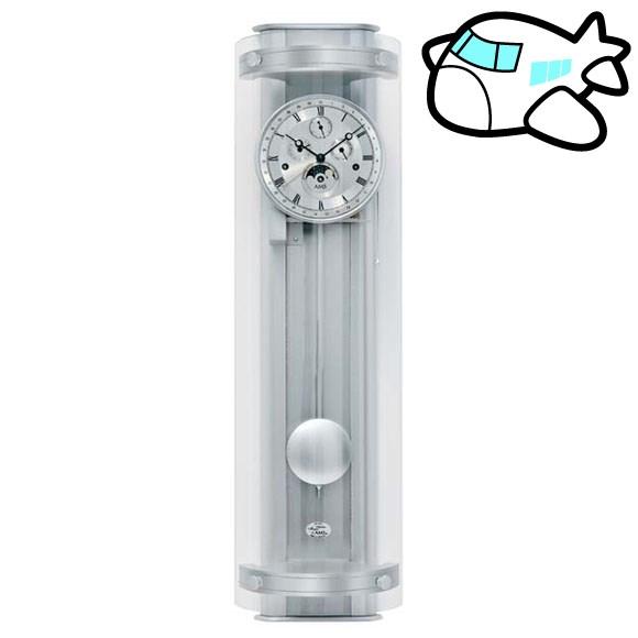 【ポイントアップ中&割引クーポン配布中】AMS 掛け時計 振り子時計 機械式振り子時計 アナログ シルバー ドイツ製 AMS3633 納期1ヶ月程度 (YM-AMS3633)