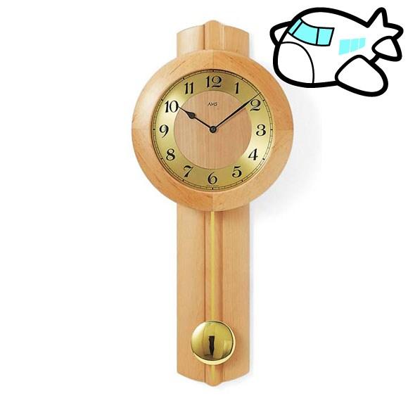 AMS 掛け時計 振り子時計 アナログ おしゃれ ドイツ製 AMS5165-16 30%OFF 納期1~2ヶ月 (YM-AMS5165-16)