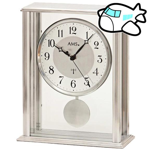 AMS 置き時計 置時計 アナログ シルバー ドイツ製 AMS5190 納期1ヶ月程度 (YM-AMS5190)
