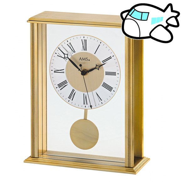 AMS 置き時計 置時計 アナログ ゴールド ドイツ製 AMS5191 納期1ヶ月程度 (YM-AMS5191)