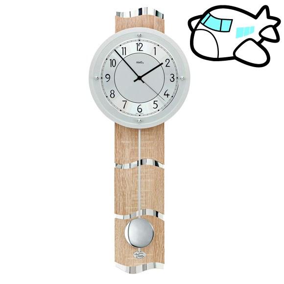 AMS 掛け時計 振り子時計 アナログ おしゃれ ドイツ製 AMS5214 30%OFF 納期1~2ヶ月 (YM-AMS5214)