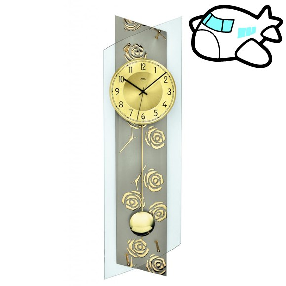AMS 掛け時計 振り子時計 アナログ ゴールド ドイツ製 AMS5223 納期1ヶ月程度 (YM-AMS5223)