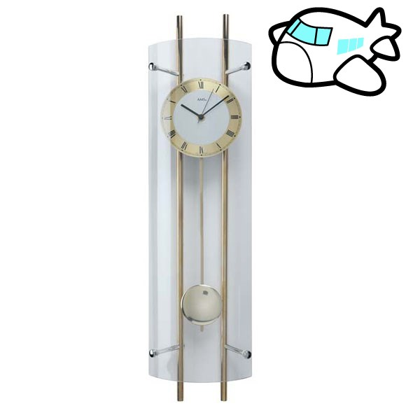 AMS 掛け時計 振り子時計 アナログ ゴールド ドイツ製 AMS5227 納期1ヶ月程度 (YM-AMS5227)