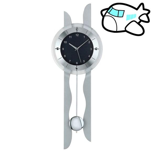 【ポイントアップ中&割引クーポン配布中】AMS 掛け時計 振り子時計 アナログ シルバー ドイツ製 AMS5243 納期1ヶ月程度 (YM-AMS5243)