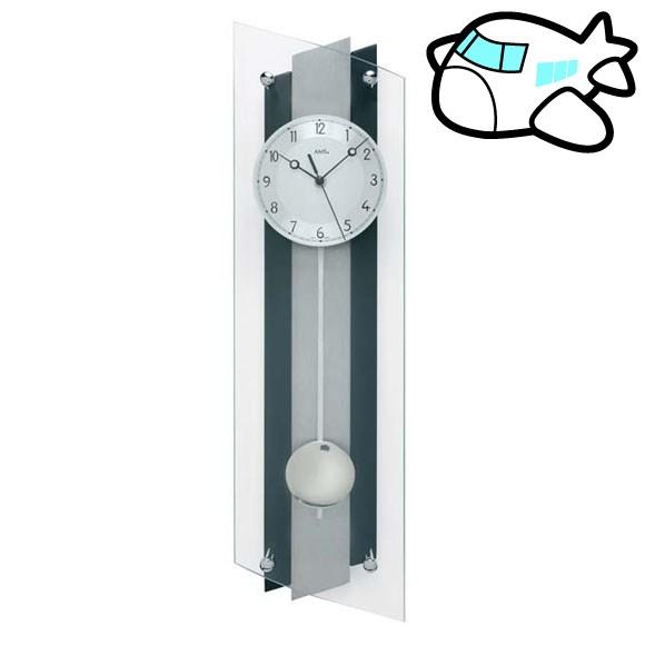 AMS 掛け時計 振り子時計 アナログ ブラック ドイツ製 AMS5262 納期1ヶ月程度 (YM-AMS5262)