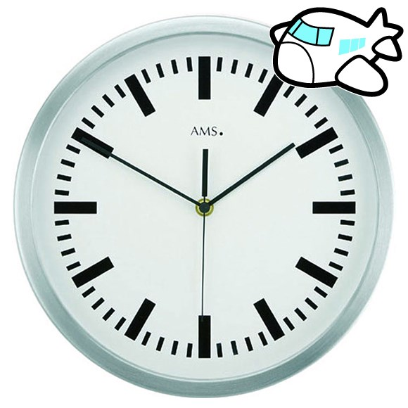 AMS 掛け時計 アナログ おしゃれ ドイツ製 AMS5840 納期1ヶ月程度 (YM-AMS5840)