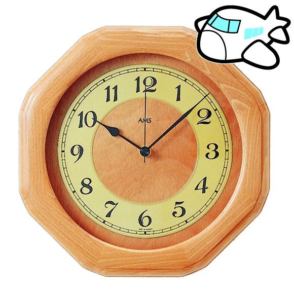 AMS 掛け時計 アナログ おしゃれ ドイツ製 AMS5859-18 納期1ヶ月程度 (YM-AMS5859-18)