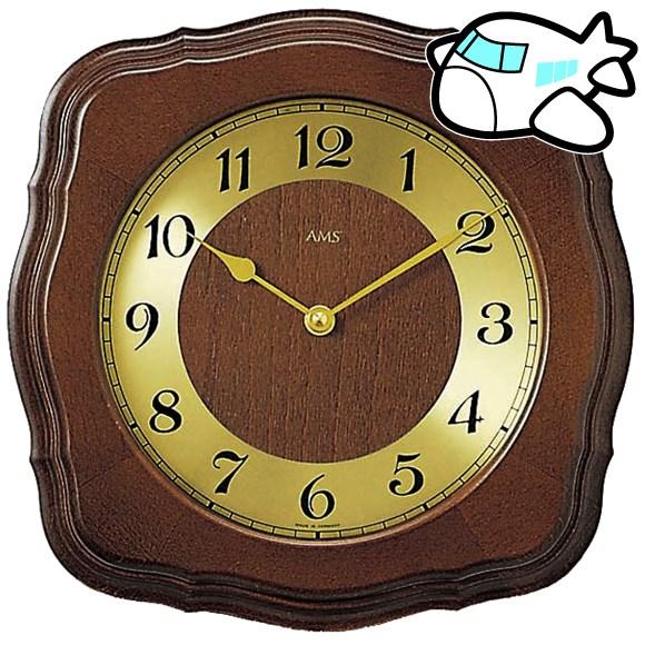 AMS 掛け時計 アナログ おしゃれ ドイツ製 AMS5862-1 納期1ヶ月程度 (YM-AMS5862-1)
