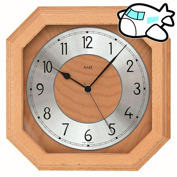 AMS 掛け時計 アナログ おしゃれ ドイツ製 AMS5864-18 納期1ヶ月程度 (YM-AMS5864-18)