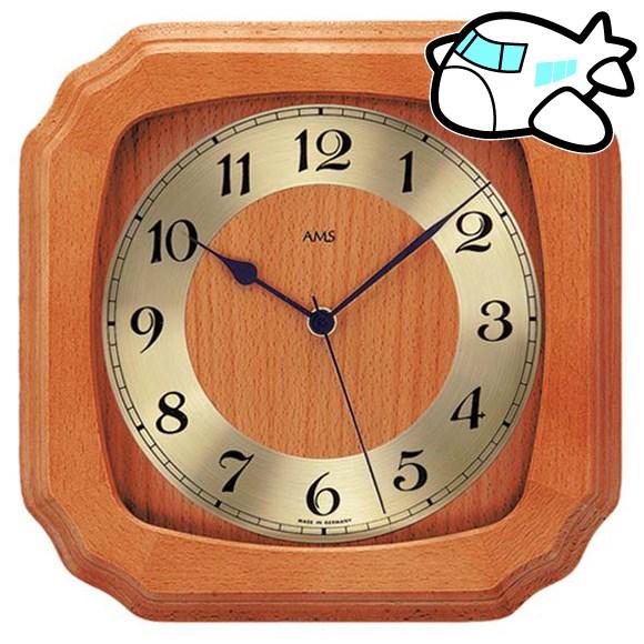 AMS 掛け時計 アナログ おしゃれ ドイツ製 AMS5866-9 納期1ヶ月程度 (YM-AMS5866-9)