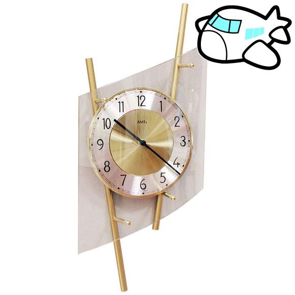 AMS 掛け時計 アナログ ゴールド ドイツ製 AMS5883 30%OFF 納期1~2ヶ月 (YM-AMS5883)