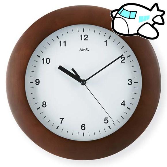 AMS 掛け時計 おしゃれ ブラウン ドイツ製 AMS5904-1 納期1ヶ月程度 (YM-AMS5904-1)