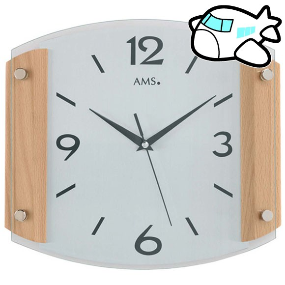 AMS 掛け時計 アナログ おしゃれ ドイツ製 AMS5938-18 納期1ヶ月程度 (YM-AMS5938-18)