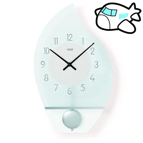 AMS 掛け時計 振り子時計 ガラス 女性 小型 ドイツ製 AMS7160 30%OFF 納期1~2ヶ月 (YM-AMS7160)