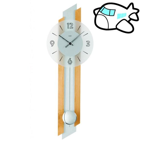 AMS 掛け時計 振り子時計 アナログ ドイツ製 AMS7207-18 30%OFF 納期1~2ヶ月 (YM-AMS7207-18)