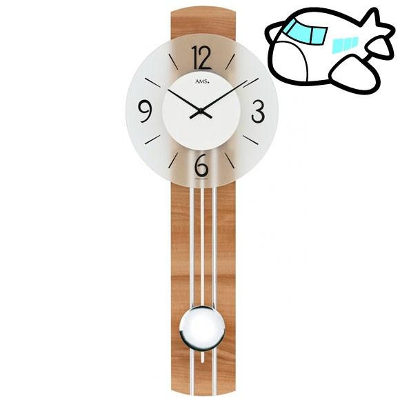 AMS 掛け時計 振り子時計 シンプル 木製 ドイツ製 AMS7263 納期1ヶ月程度 (YM-AMS7263)