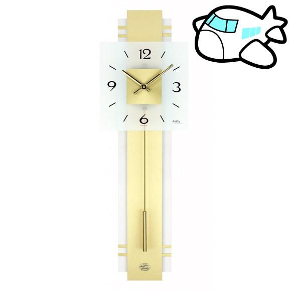 AMS 掛け時計 振り子時計 アナログ ゴールド ドイツ製 AMS7301 納期1ヶ月程度 (YM-AMS7301) *次回3月上旬から販売受付開始