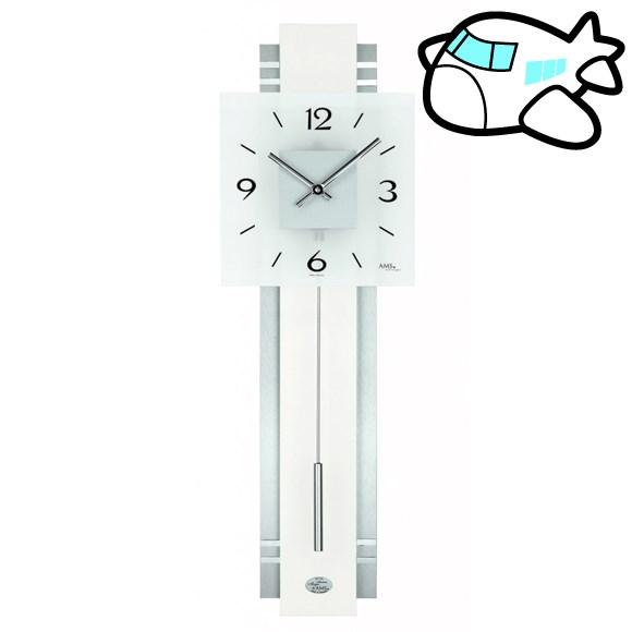 AMS 掛け時計 振り子時計 アナログ シルバー ドイツ製 AMS7302 納期1ヶ月程度 (YM-AMS7302)