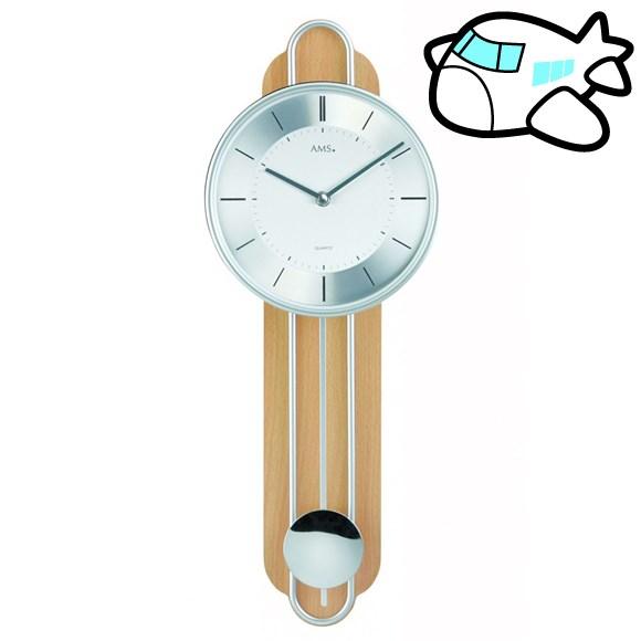 AMS 掛け時計 振り子時計 アナログ クール ドイツ製 AMS7315 納期1ヶ月程度 (YM-AMS7315)