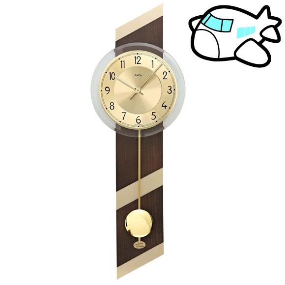 AMS 掛け時計 振り子時計 アナログ ゴールド ドイツ製 AMS7412 納期1ヶ月程度 (YM-AMS7412)