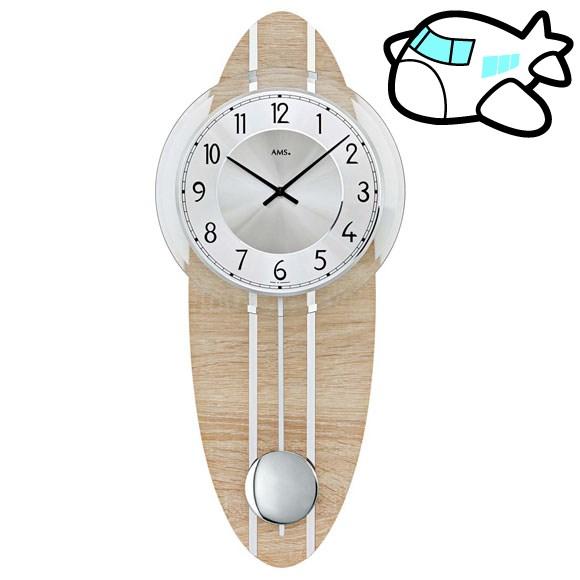AMS 掛け時計 振り子時計 アナログ シルバー ドイツ製 AMS7420 30%OFF 納期1~2ヶ月 (YM-AMS7420)