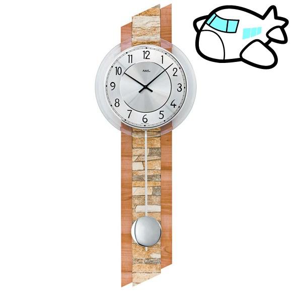 AMS 掛け時計 振り子時計 アナログ おしゃれ ドイツ製 AMS7424 納期1ヶ月程度 (YM-AMS7424)