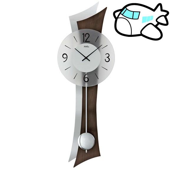 AMS 掛け時計 振り子時計 アナログ おしゃれ ドイツ製 AMS7425-1 納期1ヶ月程度 (YM-AMS7425-1)