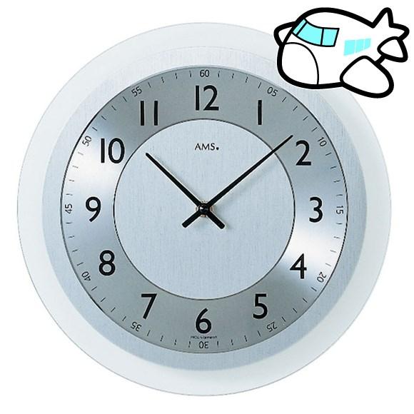 AMS 掛け時計 アナログ シルバー おしゃれ ドイツ製 AMS9066 納期1ヶ月程度 (YM-AMS9066)