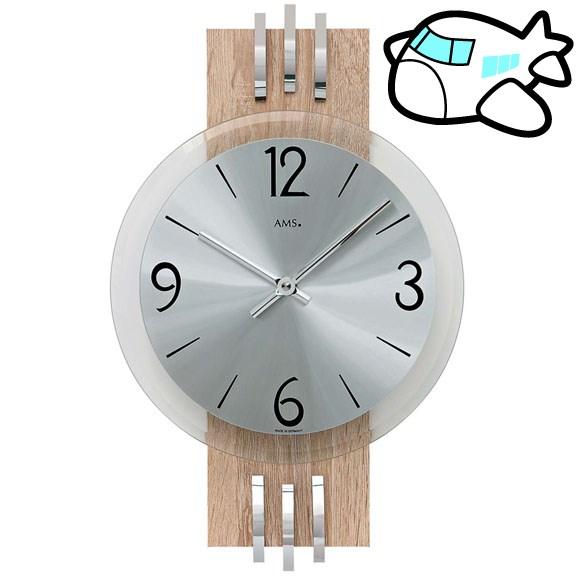 AMS 掛け時計 アナログ シルバー おしゃれ ドイツ製 AMS9228 納期1ヶ月程度 (YM-AMS9228)