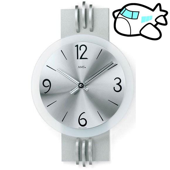 AMS 掛け時計 アナログ シルバー おしゃれ ドイツ製 AMS9229 納期1ヶ月程度 (YM-AMS9229)