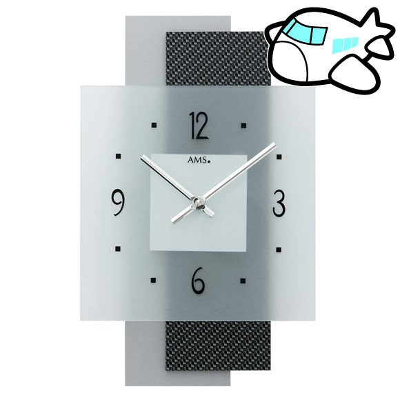 AMS 掛け時計 アナログ おしゃれ ドイツ製 AMS9243 納期1ヶ月程度 (YM-AMS9243)