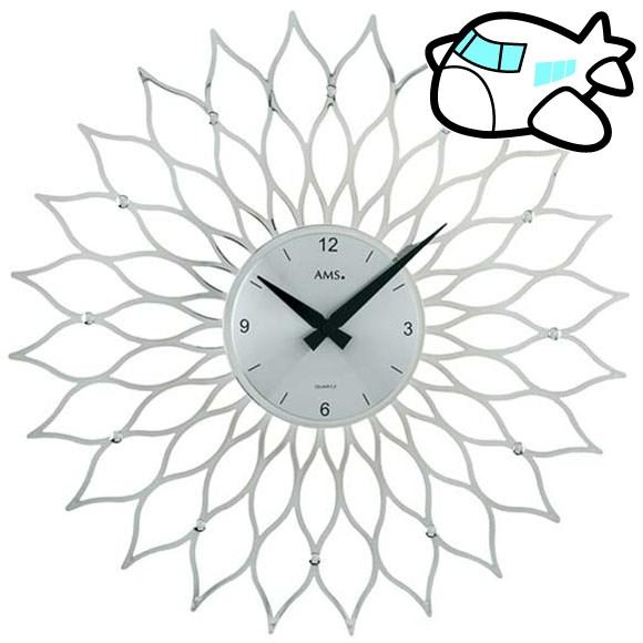 【ポイントアップ中&割引クーポン配布中】AMS 掛け時計 アナログ シルバー おしゃれ ドイツ製 AMS9358 納期1ヶ月程度 (YM-AMS9358)
