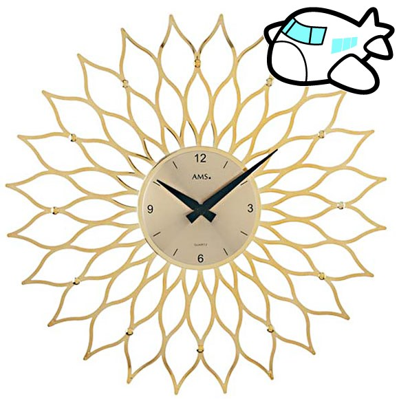 AMS 掛け時計 アナログ おしゃれ ゴールド ドイツ製 AMS9359 納期1ヶ月程度 (YM-AMS9359)