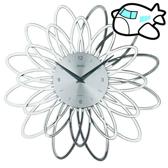 AMS 掛け時計 アナログ シルバー おしゃれ ドイツ製 AMS9362 納期1ヶ月程度 (YM-AMS9362)