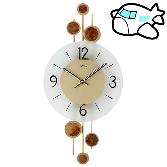 AMS 掛け時計 アナログ ゴールド おしゃれ ドイツ製 AMS9389 納期1ヶ月程度 (YM-AMS9389)