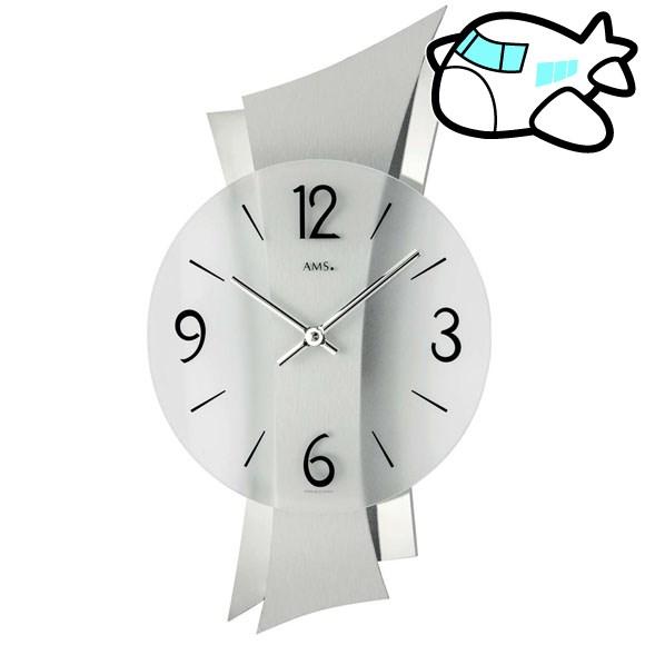 AMS 掛け時計 アナログ シルバー おしゃれ ドイツ製 AMS9398 納期1ヶ月程度 (YM-AMS9398)