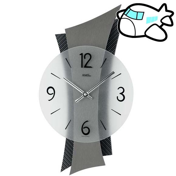 【美品】 AMS 納期1~2ヶ月 掛け時計 アナログ おしゃれ ブラック ブラック ドイツ製 AMS9400 AMS9400 納期1~2ヶ月 (YM-AMS9400), Z&K:8f8646c0 --- sukhwaniconstructions.com