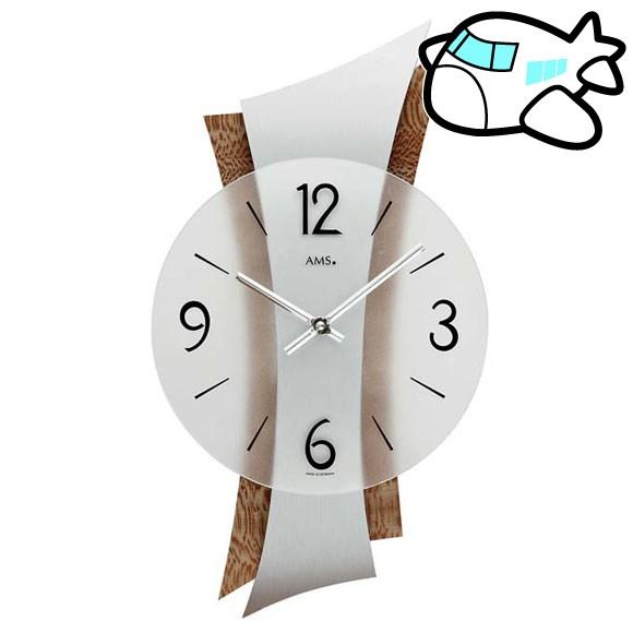 AMS 掛け時計 アナログ おしゃれ 木調 ドイツ製 AMS9401 納期1ヶ月程度 (YM-AMS9401)