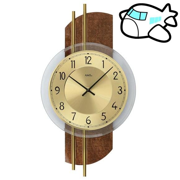 AMS 掛け時計 アナログ ゴールド おしゃれ ドイツ製 AMS9413 納期1ヶ月程度 (YM-AMS9413)