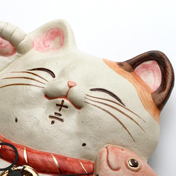 振り子時計 アナログ 癒やし めでたい 招き猫 掛け時計 ハンドメイド 陶器 日本製 和室 掛時計 新築祝い 開店祝い (CY-Y9811)