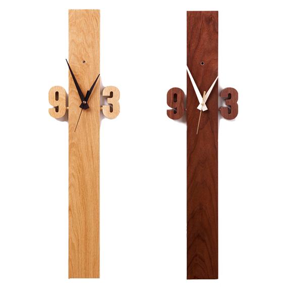 掛け時計 天然木 北海道 国産 十字 アナログ 日本製 シンプル おしゃれ 縦長 クロス (DP-CROSS)