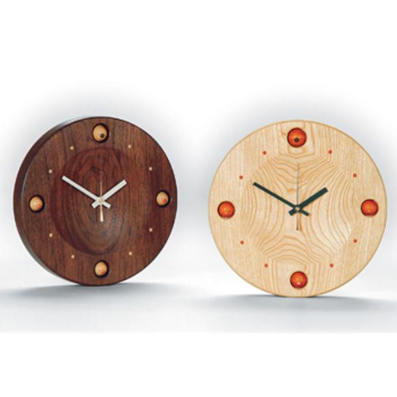 掛け時計 天然木 日本製 木製 四角 夢九鳥時計〔ムクドリ時計〕 (DP-MARU4)