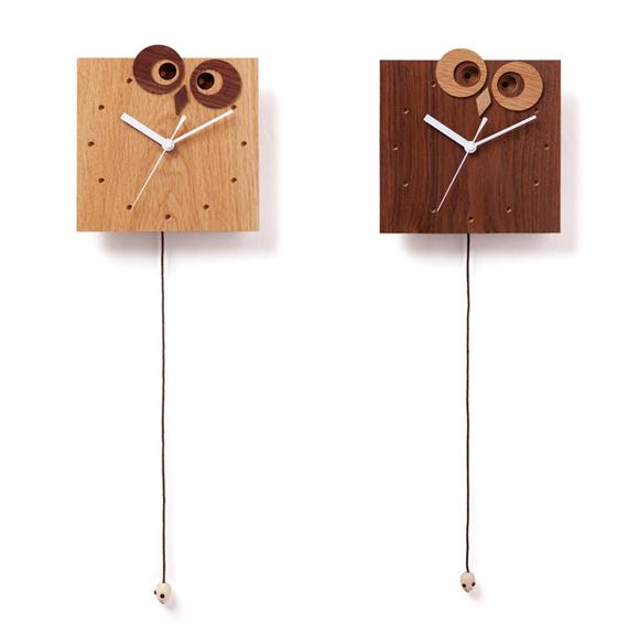 【ポイントアップ中&割引クーポン配布中】振り子時計 ふくろう 天然木 北海道 国産 日本製 おしゃれ Owl & Mouse (DP-OWLMOUSE)
