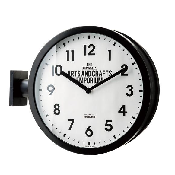 掛け時計 ダブルフェイス 両面時計 スイープムーブメント 英国調 アナログ ロベストン (IF-CL2138)*次回3月末入荷予定