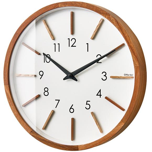 掛け時計 ミッドセンチュリー 電波時計 木製 ナチュラル おしゃれ モトレフ (IF-CL3020)